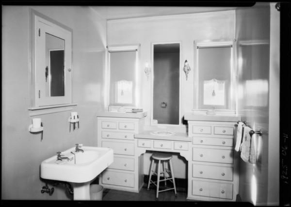 Apartment interiors at 3218 Hamilton Way, Los Angeles, CA, 1925