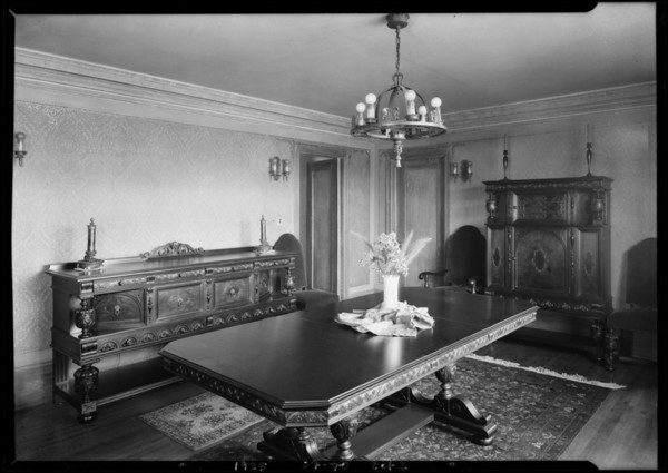 Interiors at 109 Fremont Place, Los Angeles, CA, 1925