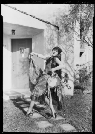 Billy Barnes in Spanish costume, Leimert Park, Los Angeles, CA, 1928