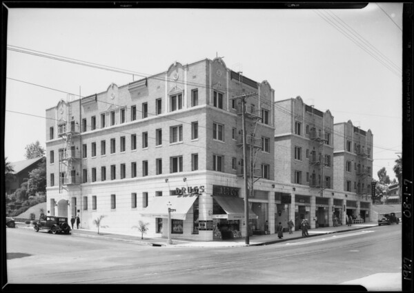 Building at Southwest corner of West 3rd Street & South Kenmore Avenue, Los Angeles, CA, 1927