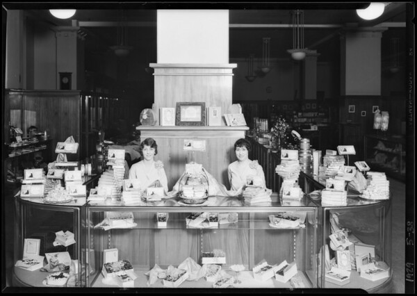 Candy department, Southern California, 1929