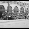 Panorama of 850 students, National Auto School, Southern California, 1930