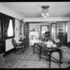 Interior of 1115 South Hoover, Mrs. Burgess, Los Angeles, CA, 1925
