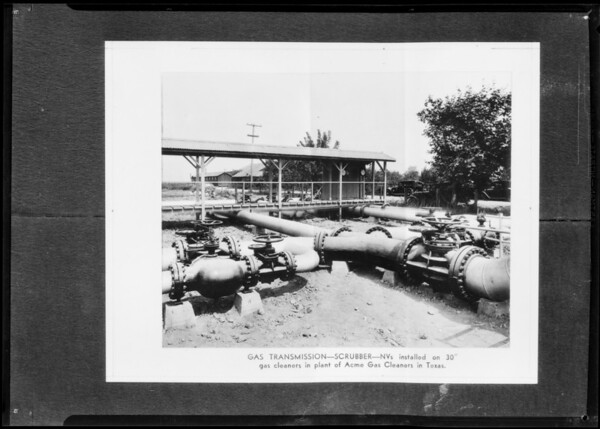 Installations in oil fields, Merco-Nordstrom, Southern California, 1931