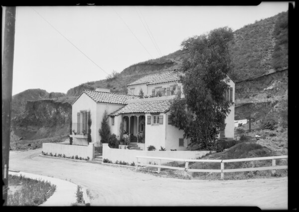 House up hill from Sunset, Southern California, 1925