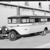 Brawley Grammar School bus, Southern California, 1931