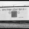 Sign board at West 8th Street & South Western Avenue, Elcar Motor Co., Los Angeles, CA, 1925