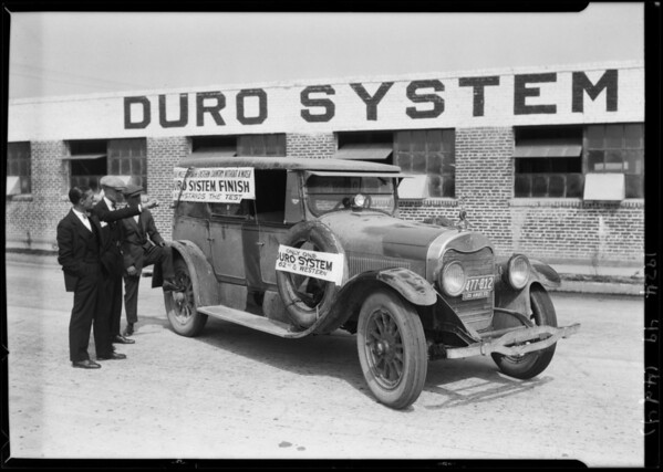 Duro Paint Company - mud on car, Southern California, 1924