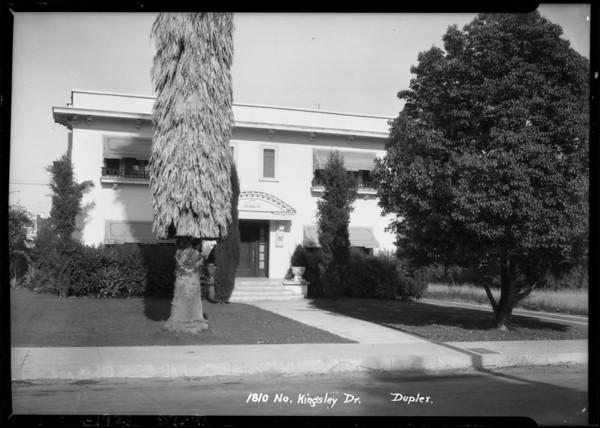 1810 North Kingsley Drive, Los Angeles, CA, 1925