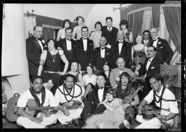 101 South Lucerne, Mrs. Renaldo's Party, Southern California, 1927