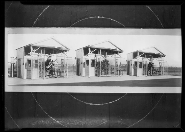 Testing benches, Axelson Machine Works Co., Southern California, 1930