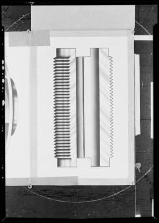 Parts of water pumps, Layne & Bowler Pump Co., Southern California, 1931