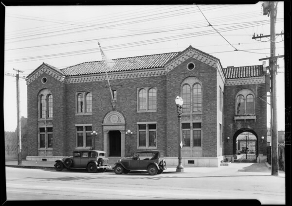 Police station - Wilshire Division, Pico Street, Los Angeles, CA, 1929