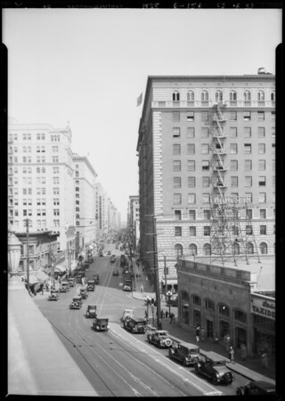 Intersection, South Figueroa Street & West 7th Street, Los Angeles, CA, 1928