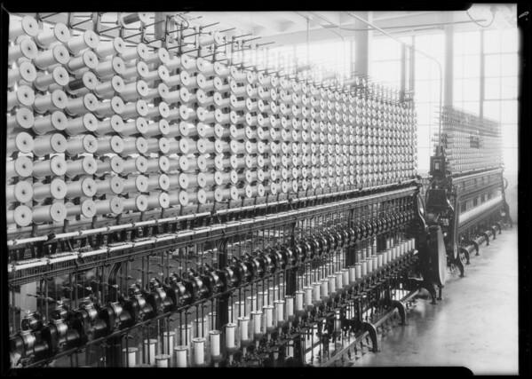 Scenes in Inglewood plant, International Textile Co., Inglewood, CA, 1928