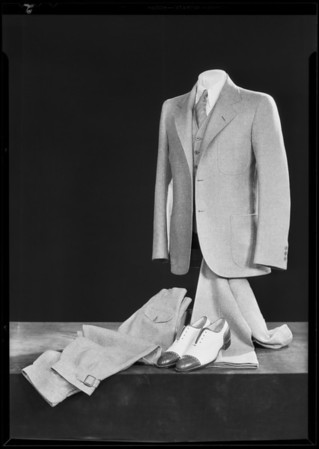 New suits and shirts, May Co., Southern California, 1930