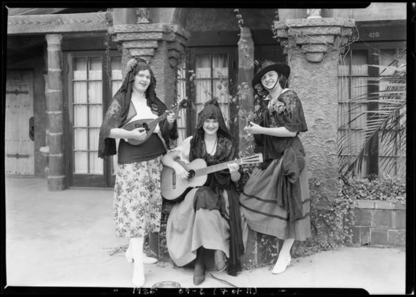 Riverside fair pageant (Miss Muir), Southern California, 1925