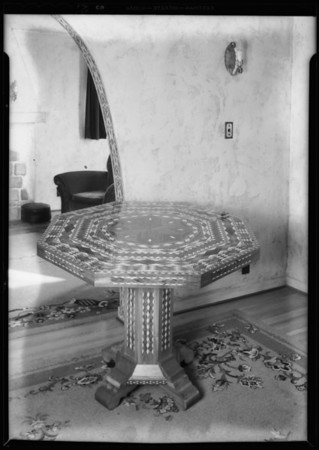 Inlaid table, Hawthorne, CA, 1931