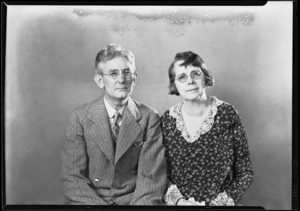 Passport photograph, Culberson, Southern California, 1929