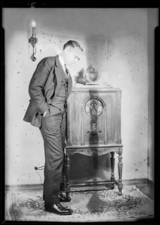 Walter M. Fagan & radio, Southern California, 1930