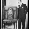 Composite of Al Jolson and radio to improve background, Southern California, 1929