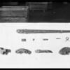 Small tubing tong taken apart, Southern California, 1928