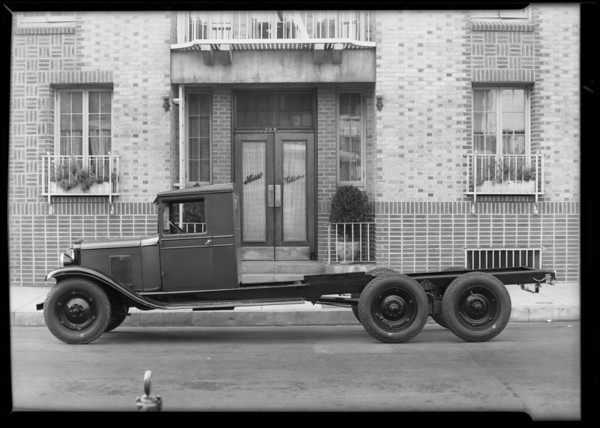 Chevrolet gumbo truck, chassis and body, Southern California, 1930