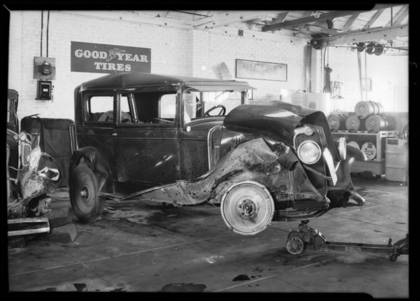 Chevrolet & Essex, west Burbank garage, Burbank, CA, 1930