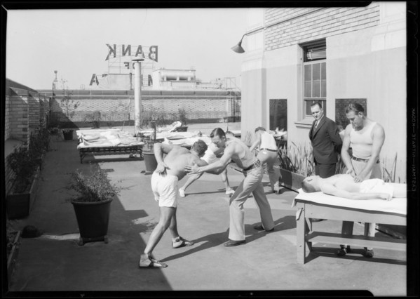 Additional photos on roof of Roosevelt Building, 727 West 7th Street, Los Angeles, CA, 1931
