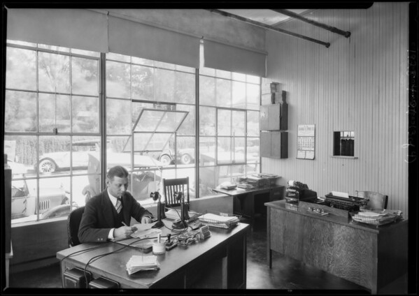 Garage, lecture room, etc., Southern California, 1928