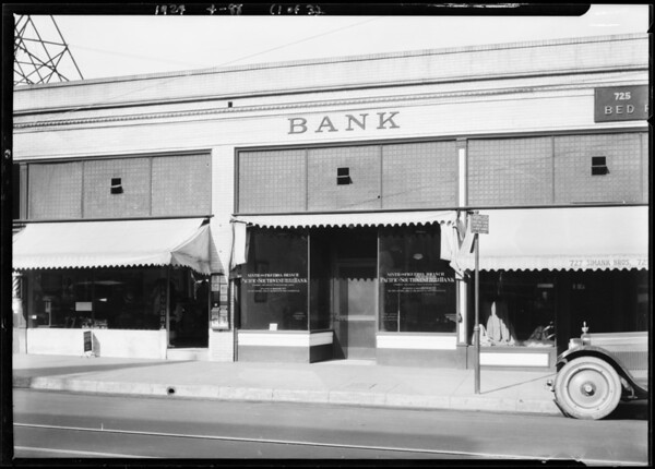 Pacific-Southwest Trust & Savings Bank - Ninth and Figueroa Branch, 729 West Ninth Street, Los Angeles, CA, 1924
