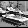 Sun baths on roof of Roosevelt Building, Los Angeles, CA, 1931