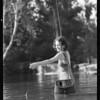 Trout fishing at Azusa, CA, 1931