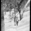 Oak Glen snow scenes, Southern California, 1928
