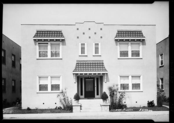 5351 Monroe Street, Los Angeles, CA, 1925