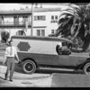 Delivery truck making delivery, Southern California, 1930