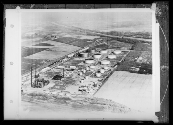 Oil refinery composite, Southern California, 1931