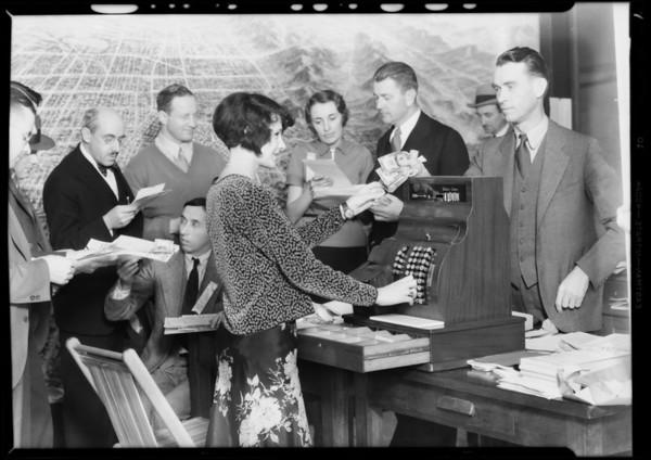 Terrace Park opening sale, Los Angeles, CA, 1931