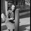 New tread on federal tires publicity shots, Bershon, Southern California, 1930