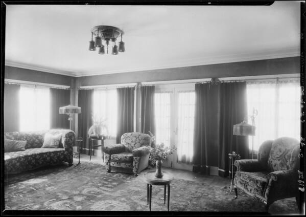 Interior & exterior of 1717 Virginia Road, Los Angeles, CA, 1928