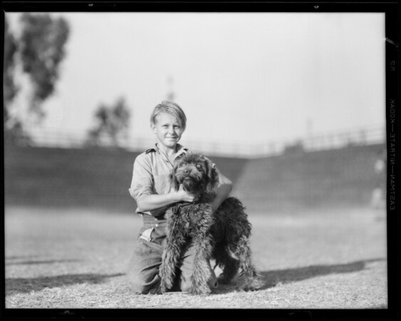 Dog show for Balto dog food, Loyola High School, 1901 Venice Boulevard, Los Angeles, CA, 1931