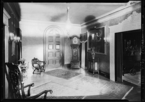 Interiors at 454 South Windsor Boulevard, Los Angeles, CA, 1927
