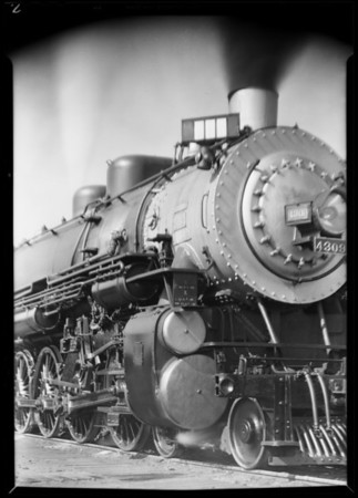Steam locomotive, Southern California, 1930