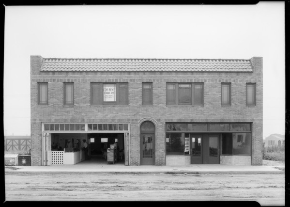 Store building on Melrose Avenue, Southern California, 1925