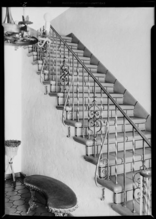 Stairway, apartment 625 South Cochran Avenue, Los Angeles, CA, 1931