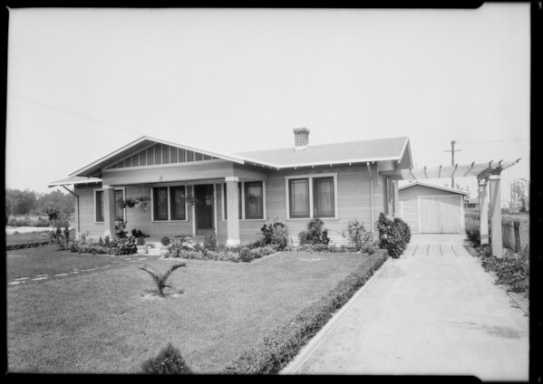 Temple, Mr. Joe Cantin, Temple City, CA, 1925