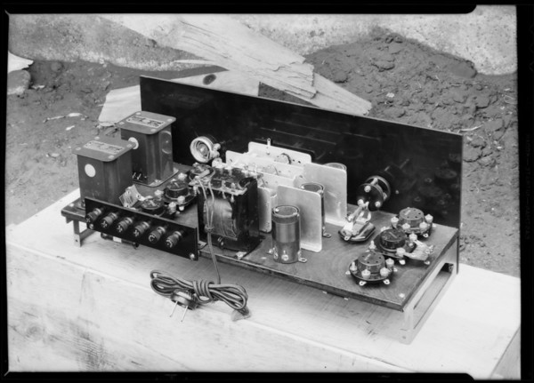 Radio parts, Southern California, 1931