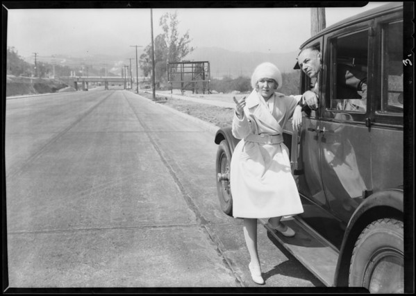 Publicity for auto tour, California state Chamber of Commerce, Southern California, 1930
