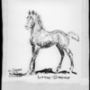 Copy of drawing of 'Little Smokey' horse, Southern California, 1929