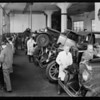 Department shots, National Auto School, Southern California, 1929